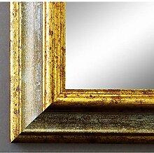 Spiegel Wandspiegel Badspiegel Flurspiegel Garderobenspiegel - Über 200 Größen - Bari Grau Gold 4,2 - Außenmaß des Spiegels 50 x 120 - Wunschmaße auf Anfrage - Antik, Barock