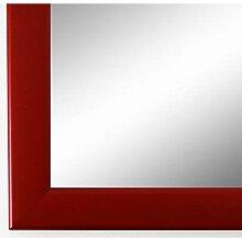 Spiegel Wandspiegel Badspiegel - Hannover 2,4 - Rot - 200 Größen zur Auswahl - handgefertigt - 40 x 40 - FM - Modern, Vintage