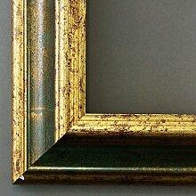 Spiegel Wandspiegel - Bari Grün Gold 4,2 - Über 14000 Größen im Angebot zur Auswahl - hier: 46 x 2 cm - Maßanfertigung