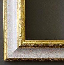 Spiegel Wandspiegel - Genua Weiß Rot Gold 4,3 - Über 14000 Größen im Angebot zur Auswahl - hier: 4 x 49 cm - Maßanfertigung