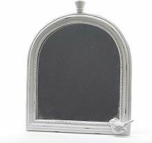 Spiegel Wandspiegel Kuppel weiß Poly Vintage Landhaus