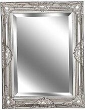Spiegel Wandspiegel Laura antik silber Barock 65 x 50 cm