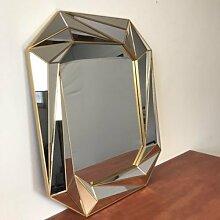 Spiegel Wandspiegel Moderne Angeschrägte Kanten Hängespiegel Silber 75x61cm