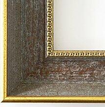 Spiegel Wandspiegel - Monza Grau Gold 6,7 - Über 14000 Größen im Angebot zur Auswahl - hier: 35 x 130 cm - Maßanfertigung