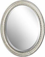 Spiegel Wandspiegel oval antik silber DUNJA 47 x