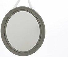 Spiegel Wandspiegel oval mit Bandaufhängung 39 x 29 cm