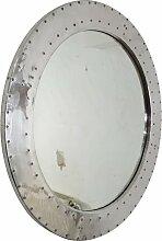 Spiegel Wandspiegel silber Ø 60 cm Alu Rund