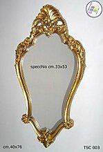 Spiegel Wandspiegel Verarbeitung Blattgold cm.40x 76tsc003