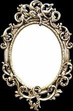Spiegel Wandspiegel verziert kunstvoll gestaltet silber Barock Antik 90x58cm