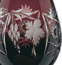 Spiegelau & Nachtmann Weinglas mit Schliffdekoration, Kristallglas, 230 ml, Traube, 0035947-0, Amethyst, Dunkelro