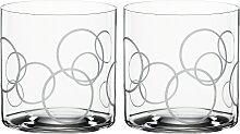 SPIEGELAU Tumbler-Glas Circles, (Set, 2 tlg.),
