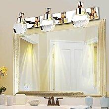 Spiegelfrontlicht Badezimmer Moderne einfache LED Kristall wasserdicht Nebel Badezimmer Wand Lampe Kosmetik Schrank Spiegel Spiegel Licht Spiegel Scheinwerfer Niemals rosten ( Farbe : Warmes Licht-3 )