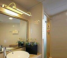 Spiegelfrontlicht Full Kupfer Spiegel Scheinwerfer Bad Badezimmer Lichter American Dorf Spiegel Schrank Lichter wasserdicht Feuchtigkeit Rost Spiegel Licht Durchmesser 68cm * Wandabstand 18cm - für 5-10 Quadratmeter Wandlampe ( Farbe : B )