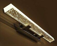 Spiegelfrontlicht& Led Crystal Mirror Scheinwerfer, Badezimmer Modern Einfache Dressing Tisch Spiegel Licht ( Farbe : Warmes Licht-70cm )