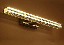 Spiegelfrontlicht& Led Crystal Mirror Scheinwerfer, Badezimmer Modern Einfache Dressing Tisch Spiegel Licht ( Farbe : Weißes Licht-90cm )