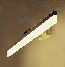 Spiegelfrontlicht& LED-Spiegel-Frontlicht, Spiegel-Kabinett-Lampe Badezimmer-Aufbereiter-Waschraum-Wand-Lampe ( Farbe : Silber-Warmes Licht-60 )