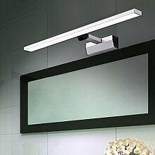 Spiegelfrontlicht (Light pole einziehbar) LED Spiegel vorne Lampe / Wandleuchte Moderne minimalistische Aluminium einziehbar Make-up Licht Badezimmer Badezimmer Spiegelleuchten Schrank (46 cm / 60 cm) Niemals rosten ( Farbe : Weißes Licht-46cm-7W )