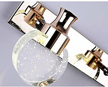 Spiegelfrontlicht& Spiegel-vordere Lichter, Badezimmer-modernes einfaches geführtes Kristall wasserdichtes Anti-fog Badezimmer bilden Kabinett-Spiegel-Lichter ( Farbe : Weißes Licht-30cm )