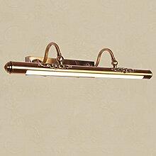 Spiegelfrontlicht& Spiegel-vordere Lichter, Retro geführtes Badezimmer-Feuchtigkeitsspiegel-Kabinett-Waschbecken-Wand-Lampe ( größe : 60 )