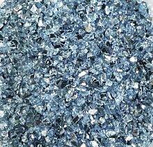 Spiegelglas-Granulat (1-4 mm), 400 g, hellblau (Grundpreis 6,98 EUR/kg)