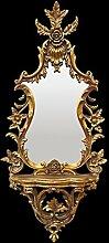 Spiegelkonsole Wandspiegel Barock Gold Blumen Blatt Motive Pomp Vintage Spiegel