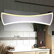 Spiegellampen- Badezimmer LED-Spiegel Vorderlichter Einfache Und Moderne Edelstahl Acryl Badezimmer Wandleuchte/41cm-15W , 50cm-18W --Lampen-Spiegel vorne ( größe : 50cm-18W )