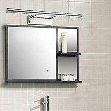 Spiegellampen- (Lampe kann justiert werden) moderner einfacher Edelstahl LED-Spiegelfrontlichter Badezimmer-Schlafzimmer Antifog Spiegel-Schrank-Lampen-Wand-Lampe (40cm-5W, 55cm-7W, 70cm-9W) --Lampen-Spiegel vorne ( farbe : Warmes licht-55cm-7W )