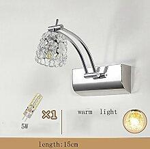 Spiegellampen- Moderne LED-Spiegel-Schrank-Lichter Badezimmer-Spiegel-vorderes Licht Feuchtigkeitsbeständiger Spiegel Wasserdichte Lichter Spiegel-Kabinett-spezielle Verfassungs-Lampe (nie Rost) --Lampen-Spiegel vorne ( farbe : Warmes licht-15cm-5W )