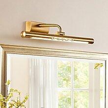 Spiegelleuchte American Kupfer Spiegel Frontbeleuchtung führte Bad Badezimmer Spiegel Schrank Kommode Wandleuchte Spiegellampen ( größe : 44cm )