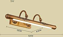 Spiegellicht LDE Retro Spiegel Vorne Licht Lampe Badezimmer Wand Bad Wand Lampe Badezimmer Moderne ( Farbe : G5w )