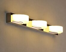 Spiegellicht LDE Spiegel Vorne Licht Lampe Bad Wand Wasserdicht Nebel Badezimmer Badezimmer Spiegel Lichter Badezimmer Moderne ( Farbe : 3- 48CM-9w-yellow light )