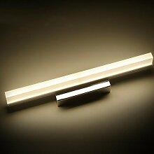 Spiegellicht Spiegel-vorderes Licht / einfaches kreatives Badezimmer-Spiegel-Scheinwerfer / LED-Aufbereiter-Spiegel-Kabinett-Lichter Badezimmer Moderne ( Farbe : Warmes Licht-80cm )