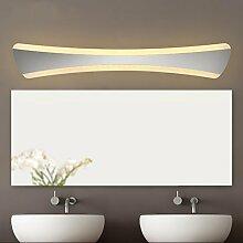 Spiegellicht Spiegel vorne Licht / Simple Modern Spiegel vorne Licht / Wasserdicht Nebel Badezimmer Badezimmer Spiegelleuchte (warmweiß) Badezimmer Moderne ( Farbe : Warmes Licht-42cm )