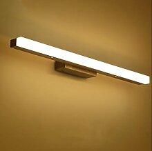 Spiegellicht Spiegel vorne Licht / Simple Modern Spiegel vorne Licht / Wasserdicht Anti-Fog Badezimmer Badezimmer Spiegelleuchte (Warm White) Badezimmer Moderne ( Farbe : Warmes Licht-M )