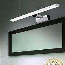Spiegellicht Spiegel vorne Licht / Simple Modern Spiegel vorne Licht / Wasserdicht Nebel Badezimmer Badezimmer Spiegelleuchte (warmweiß) Badezimmer Moderne ( Farbe : Weißes Licht-46cm )