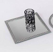 Spiegelplatte, Tischspiegel PEARLS  15x15cm quadratisch silber Glas Formano W17 (3,95 EUR / Stück)