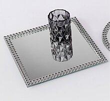 Spiegelplatte, Tischspiegel PEARLS 25x25cm quadratisch silber Glas Formano W17 (7,95 EUR / Stück)