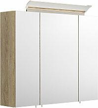 Spiegelschrank 75cm inkl. Design LED-Lampe und