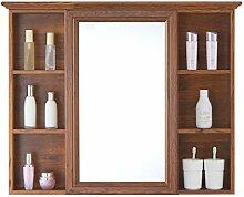 Spiegelschrank, Badezimmer Wandschrank mit Regal,