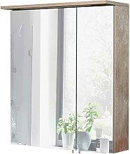 Spiegelschrank im Dekor Eiche Grau LED Beleuchtung