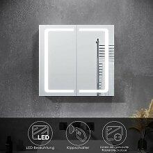 Spiegelschrank LED mit Beleuchtung Steckdose