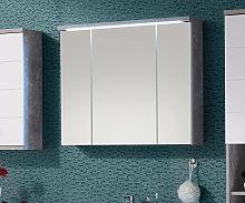 Spiegelschrank Petre 80 cm Grau Beton Optik LED