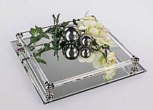 Spiegeltablett, 30 cm, silber