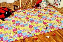Spiel Kinderteppich Patchwork Pink in 24 Größen