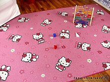 Spiel Kinderteppich Rosa Pink Hello Kitty in 24