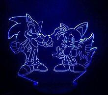 Spiel Sonic The Hedgehog 3D Lampe Nachttischlampe