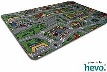 Spiel Spass HEVO ® Strassen Kinderteppich | Spielteppich 135x200 cm