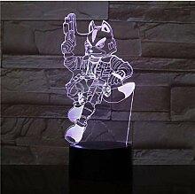 Spiel Starfox 3D Nachtlicht USB-Berührungssensor