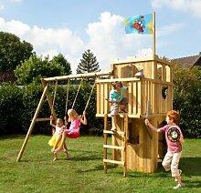 Spielanlage / Spielturm FIPS Ritterburg mit Zubehör