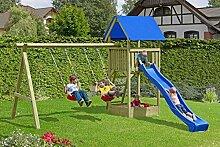 Spielanlage / Spielturm mit Doppelschaukel Junior